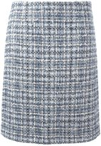 Lanvin tweed checked skirt - women - Silk/Cotton/Acrylic/Wool - 36