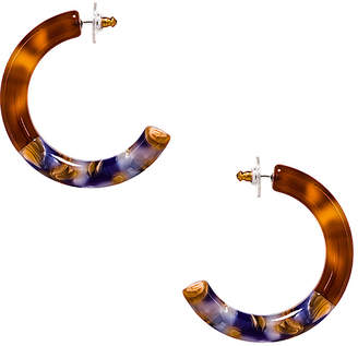 Lele Sadoughi Broadway Hoop Earrings