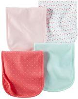 Carter's Baby Girl 4-pk. Heart & Petal Burp Cloths