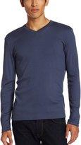 Calvin Klein Men's Long-Sleeve Ribbed V-Neck T-Shirt