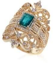 Effy Brasilica Emerald & Diamond 14K Gold Ring