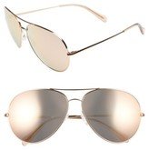 Oliver Peoples Women's Sayer 63Mm Oversized Aviator Sunglasses - Black/ Black