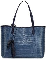 Nancy Gonzalez Erica Crocodile Shopper Tote Bag