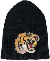 Gucci tiger patch beanie hat