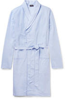 Hanro Contrast-Tipped Cotton-Jacquard Robe