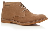 Hush Puppies Tan Suede Lace Up Desert Boots