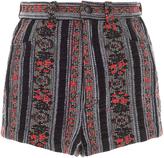 Anna Sui Stripe Floral Jacquard Short