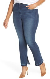 Max Studio MAXSTUDIO Indigo Perfect Vintage High Rise Release Hem Straight Leg Jeans