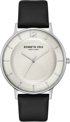 Kenneth Cole New York Men's Black Leather StrapWatch