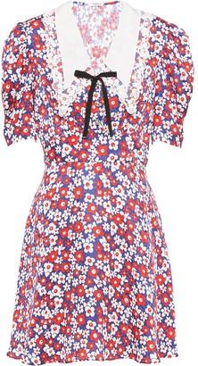 Miu Miu Floral Satin Jacquard Dress