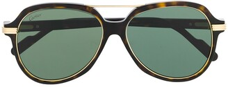 Cartier C Decor oversized-frame sunglasses
