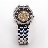 Van Heusen Silver Styled Circular Nugget with Colored Men's Watch