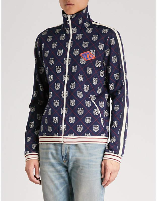 Gucci Tiger-intarsia knitted sweatshirt