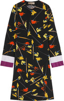 Emilio Pucci Cutout printed silk dress