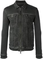 John Varvatos zip up denim jacket