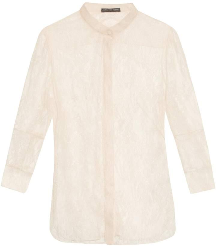 Alexander McQueen Floral-lace blouse