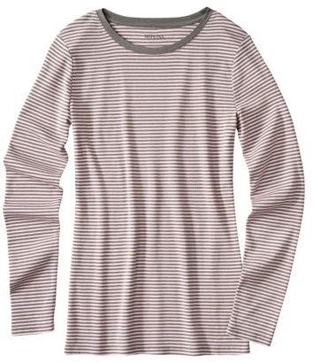 Merona Women's Ultimate Crewneck Striped Tee - Assorted Colors