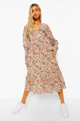 boohoo Tall Woven Paisley Floral Print Maxi Dress