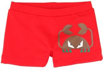 Fendi Crab Print Lycra Swim Shorts