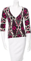 Tory Burch Patterned Wool Cardigan