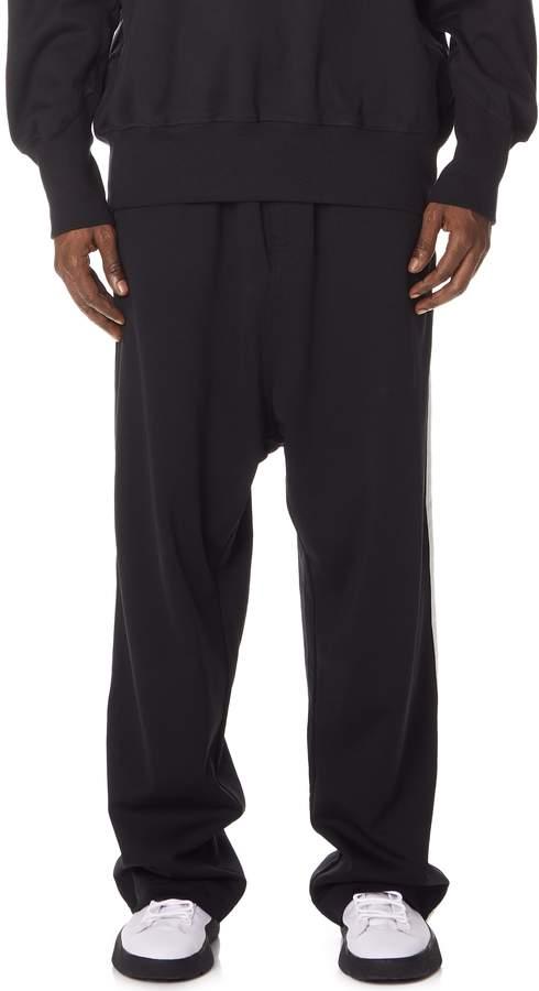 Y-3 Y 3 3 Stripes Wide Pants