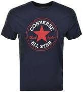 Converse Logo Crew Neck T Shirt Navy
