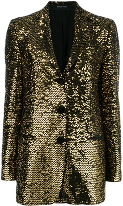Tagliatore Sequin Embroidered Blazer