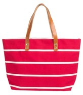 Cathy's Concepts Monogram Stripe Tote - Coral