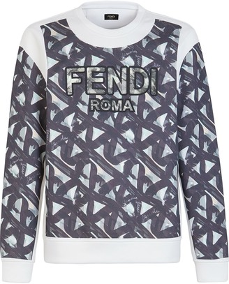 Fendi Botanical Print Sweatshirt