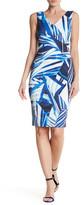 Karen Millen Stripe Scarf Pattern Dress