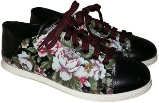 Alexander McQueen Anthracite Leather Trainers