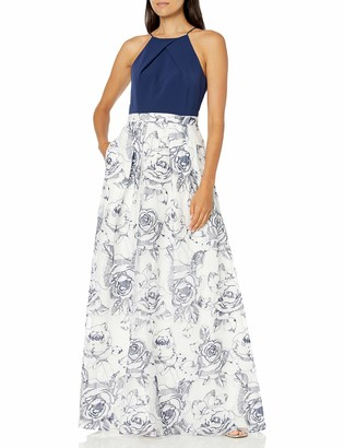 Aidan Mattox Aidan Women's Embroidered Halter Gown