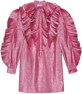 Gucci Lurex pleated dress