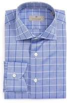 Canali Men's Regular Fit Windowpane Dress Shirt