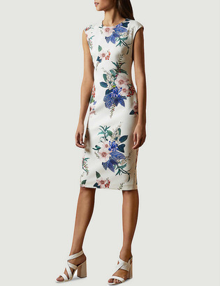 Ted Baker Jamboree Sharley stretch-woven midi bodycon dress