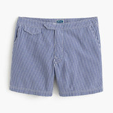 "J.Crew 6.5"" Tab Swim Short In Gingham Seersucker"