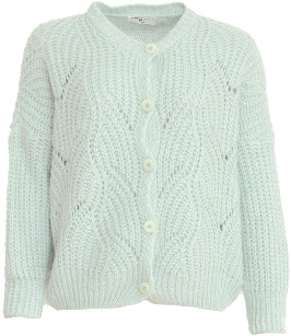 Sweet Like You - Buttoned Knitted Cardigan Mint - one size