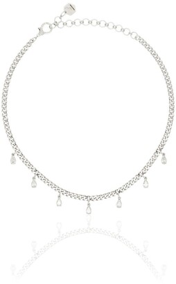 Shay 18kt White Gold Pear Diamond Necklace