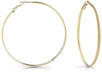 GUESS All Around Gold Coloured Hoop Earrings