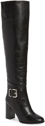 Jeffrey Campbell Bridle Over the Knee Boot with Faux Shearling Lining