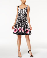 Nine West Floral-Print Fit and Flare Dress, Macy's Exclusive Style