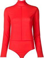 Nina Ricci turtleneck bodysuit - women - Silk/Spandex/Elastane - 42