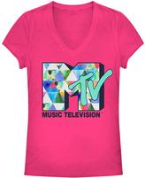 Fifth Sun Hot Pink MTV Logo Tee - Juniors