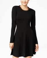 XOXO Juniors' Embellished Fit & Flare Sweater Dress