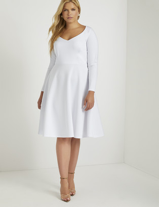 ELOQUII Sweetheart Fit and Flare Dress