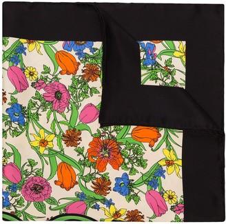 Gucci Pop floral-print silk scarf