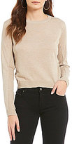 Daniel Cremieux Ashley Long Sleeve Pullover Cropped Sweater