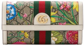Gucci Ophidia GG Flora Continental Wallet