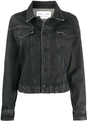 Proenza Schouler White Label Washed Cinched Denim Jacket