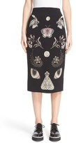 Alexander McQueen 'Obsession' Jacquard Knit Pencil Skirt